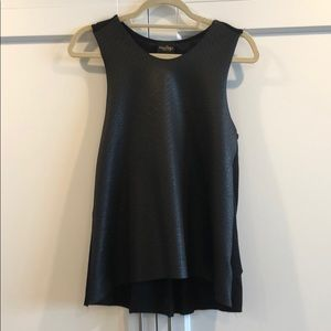 Audrey Faux Leather Tank with Tee style Back